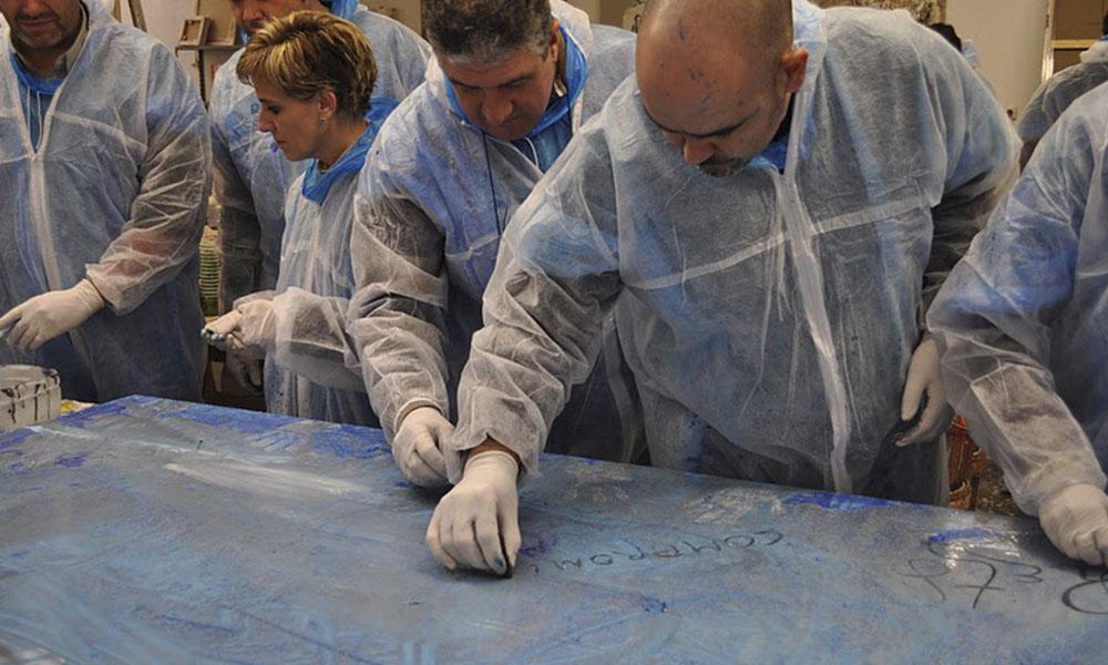 team building pintura amics